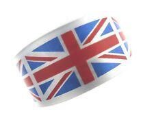 ** 50m x 38mm Printed Union Jack Flag on Single Sided Satin Ribbon