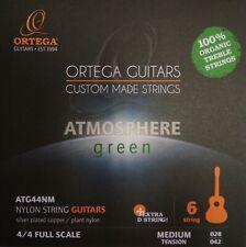 Ortega Guitar Strings Atmosphere green medium Tension + extra D-Saite