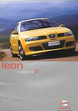 SEAT LEON CUPRA  R SALES BROCHURE JULY 2002 FOR 2003 MODEL YEAR
