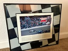 "REMARKABLE MOMENTS TALKING FRAME 1992 INDY 500 RACE, ""43/1000th of a Second"""