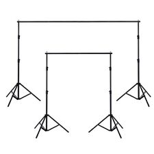 10x6.5ft Adjustable Background Support Stand Photo Studio Backdrop Crossbar Set