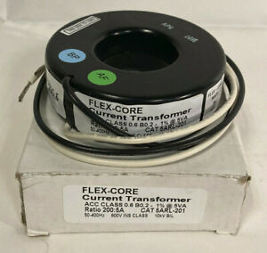 Flex-Core 5ARL-201 Current Transformer 200:5A 50-400Hz 600V New in Box