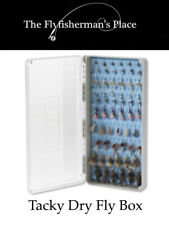 Tacky Dry Fly Box, Silicone secure grip, accommodates 192 flies
