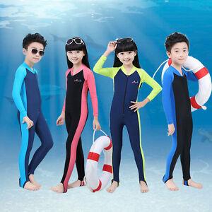 Long Sleeve Swimming Diving Wetsuit for Children Anti UV Full Body Swimwear Kids