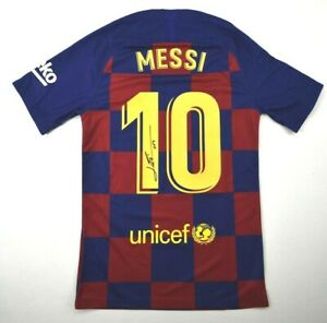 Lionel Messi Signed Barcelona Nike Jersey Inscribed Leo Icons COA Autograph