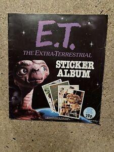 E.T the extra terrestrial Panini Sticker Album.1982  Complete steven spielberg