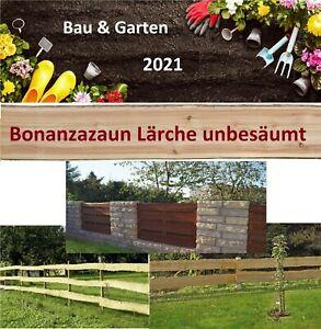 Bonanzazaun Lärche Bohle ab 9,95€/m Baumscheibe unbesäumt Massivholz Zaunbretter