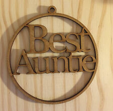 """Laser Cut """"Best Auntie"""" Christmas Tree Bauble, Gift Tag"""
