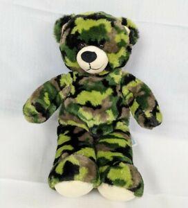 """BABW Build A Bear Workshop Digital Camouflage Army Bear 14"""" Plush Stuffed Toy"""