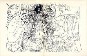 """1943 PICASSO Lithograph """"Une Satire"""" """"Hommage Portfolio No. 177"""" of 1000"""
