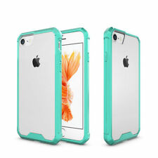 Hybrid Slim Clear Acrylic Bumper Hard Case For Apple iPhone 6 6s Plus Turquoise