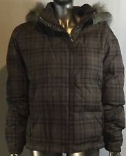 Women's Columbia hooded jacket, with fur, Col brown, Size XL