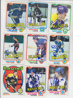1981-82 TOPPS SIGNED CARD MARCEL DIONNE LOS ANGELES KINGS RED WINGS RANGERS # 9