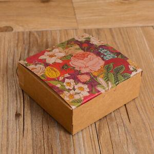 Kraft Paperboard Bakery Box/Cake/Moon cake /Cookies/ Gift Box  ( pack of 12)