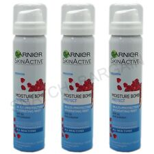 3 x GARNIER SKIN ACTIVE MOISTURE BOMB PROTECT 75ml HYDRATING MIST SPF 30
