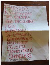 Wellwater Conspiracy setlist + coa! Matt Cameron Eddie Vedder Pearl Jam written