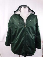 Nike Housh Reversible Jacket Coat Nylon/Fleece Hooded Men's Size Large - GREEN