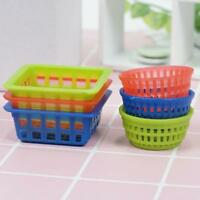 6PCS Plastic Basket For 1/12 Dollhouse Miniature Washing Vegetable Fruit  Gift