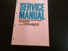 Original Service Manual Schaltplan Akai CR-80T