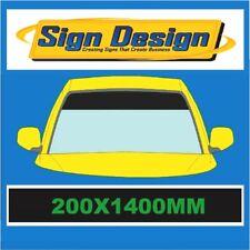 SPECIAL OFFER PLAIN GLOSS BLACK SUN STRIP CAR  DECALS GRAPHICS 988