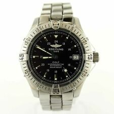 BREITLING COLT A17350 AUTO BLACK DIAL 500M CHRONO STAINLESS STEEL MENS WATCH