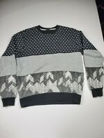 VINTAGE LRG Lifted Research Group Sweater Adult Large Gray Black Pullover Men *