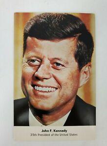 VINTAGE President John F. Kennedy Souvenir Postcard  PE-293 NON-POSTMARKED