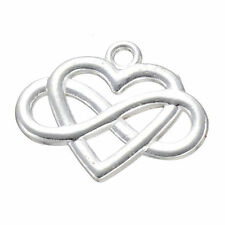 10x Charms Heart Infinity Friendship Pendant GP Silver Jewelry Accessories /811F