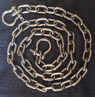 """Stainless Steel 316 Anchor Chain 5/16"""" (8mm) by 6' long with quality shackles"""