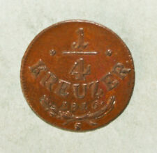 Austria 1/4 Kreuzer 1816-S Almost Uncirculated Copper Coin *** Key Date