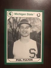 1990 Michigan State Spartans Collegiate Collection #74 - Phil Fulton - Baseball