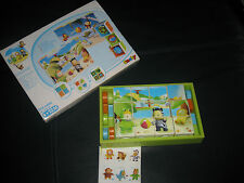 SMOBY Cotoons - Mes premiers cubes + 12 mois - 2 puzzles  TBE