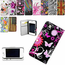 Flip Phone Leather Wallet Cover Case For Huawei P7 P6 Y530 G510 Samsung S4 Mini