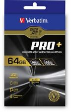 Verbatim 44034 Pro+ micro SDXC U3 64GB SD Card 90/80 MB/s  - OFFICIAL UK STOCK