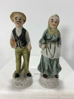 Vintage Man Woman Old Couple Figurines.  Approximately 6""