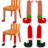 Santa Claus Elf Boots Table Foot Sleeve Table Chair Leg Foot Cover Xmas Ornament