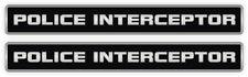 (2) Police Interceptor Vinyl Decals   Stickers Mustang Camaro Emblems Labels