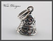 925 Sterling Silver Adorable Ajoure Sterling Silver Jingle Bell Charm