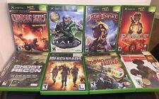 Lot of 8 Microsoft original Og Xbox games Halo, Fable, Jade Empire