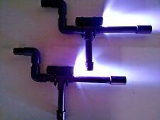 Purple Mini Marshmallow Shooters PVC Blow Guns Set of 2 w/ LED Flashlights