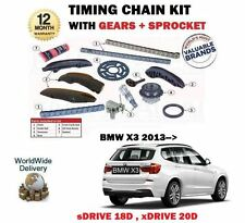 FOR BMW X3 F25 SDRIVE 18D + XDRIVE 20D 2013->NEW TIMING CAM CHAIN KIT + GEARS