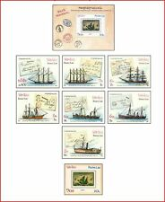 LAO87032 Sailing 8 stamps and block