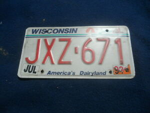 American Licence Number Plate - Vintage Old USA License plate