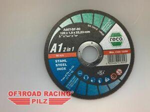 RECA A1 2in1 Trennscheibe für Stahl und Edelstahl, gerade 125 x 1,0 x 22,23 mm