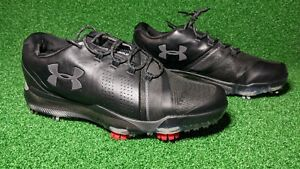 Under Armour UA Jordan Spieth 3 Golf Spikes Black Red 3021204-001 Men's 7/ W 8.5
