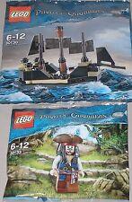 2x Lego Fluch der Karibik ! Jack Sparrow und Mini Black Pearl OVP