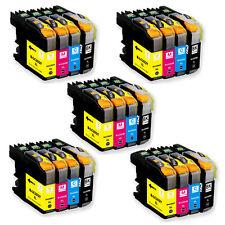 20 PK Ink Cartridge Set + smartchip for Brother LC203 J460DW J480DW J485DW