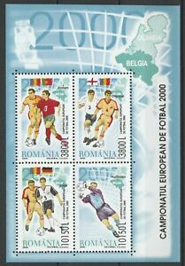 Romania 2000 Football Euro Cup MNH Block
