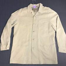 Tommy Bahama Paradise Nation Mens Beige Silk Blend Blazer Jacket Size Med  EUC