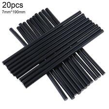 20pcs/set 7Mm Hot Melt Glue Gun Stick Adhesive Clear Black Diy Art Craft Repair